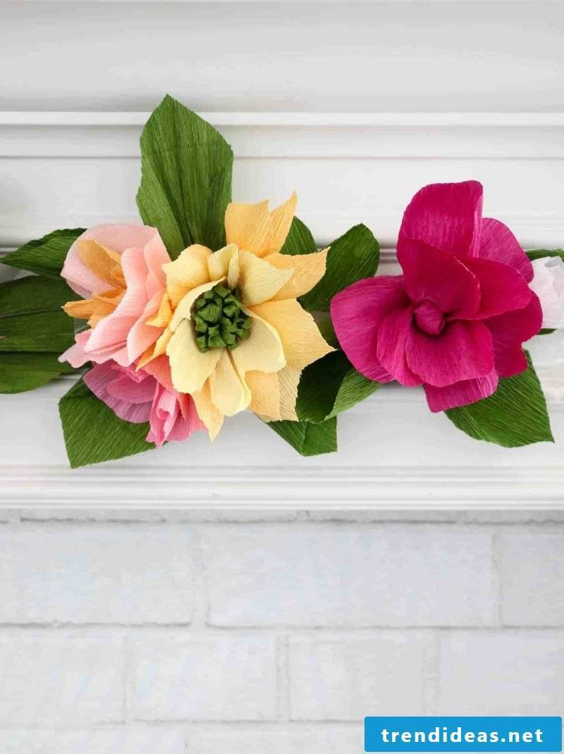 Make ideas for paper flowers