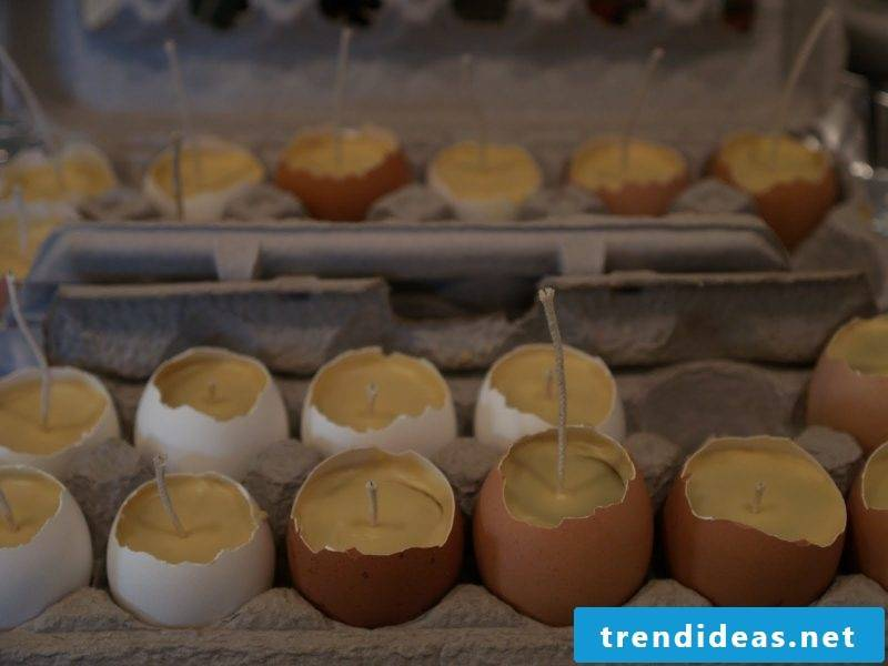 crafting easter easter pastels Easter candles from egg shells tinker