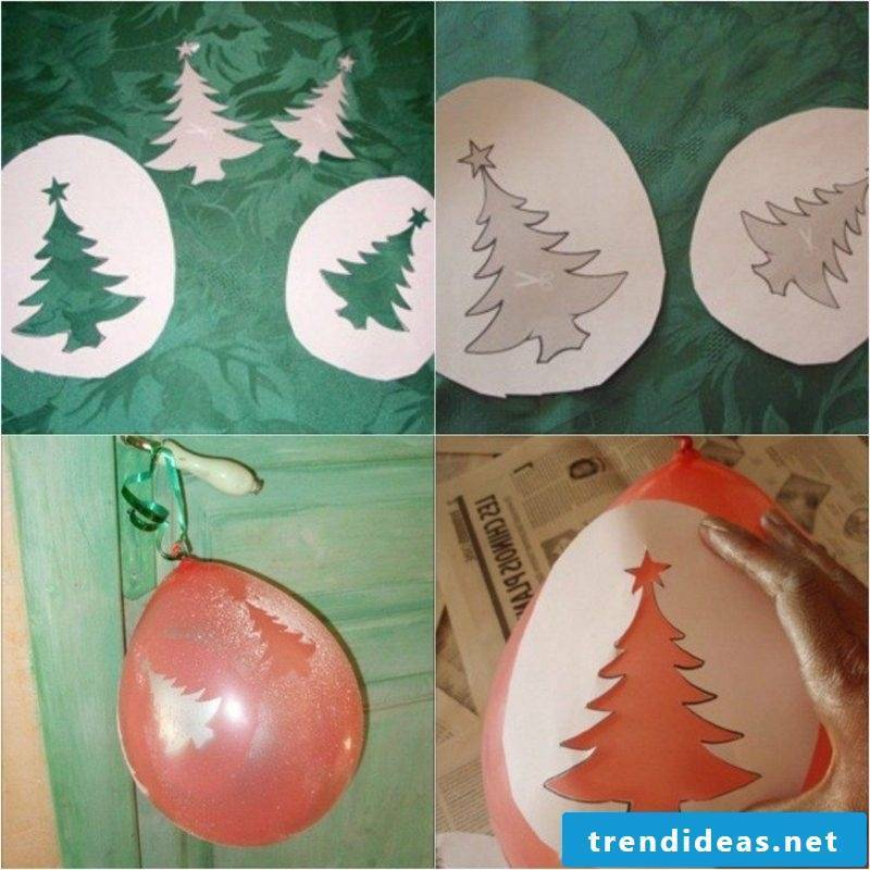 Decorate balloons with artificial snow Image tutorial