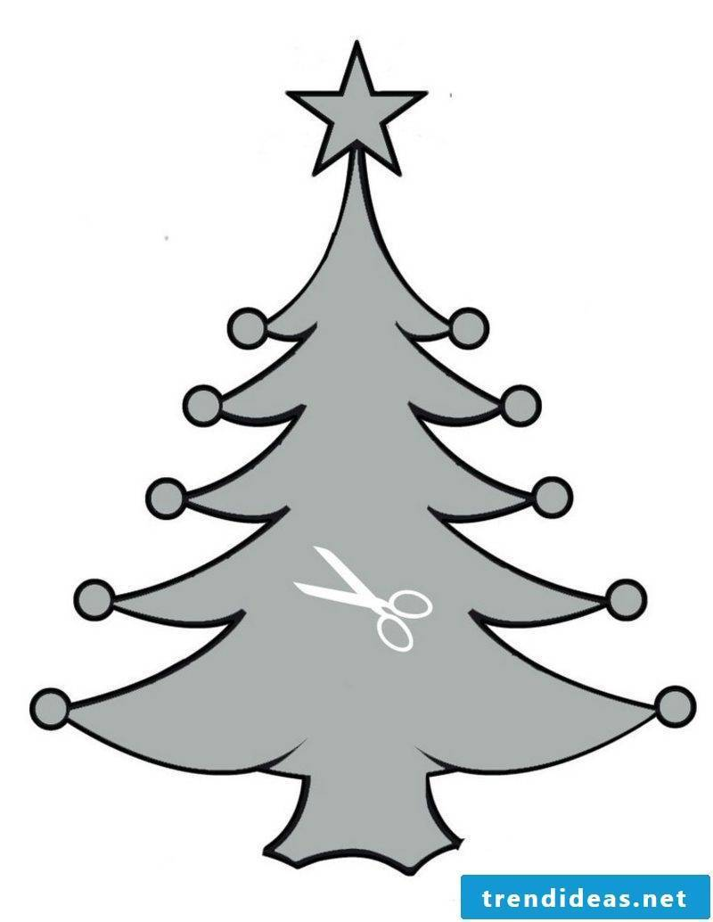 Crafting templates for Christmas tree