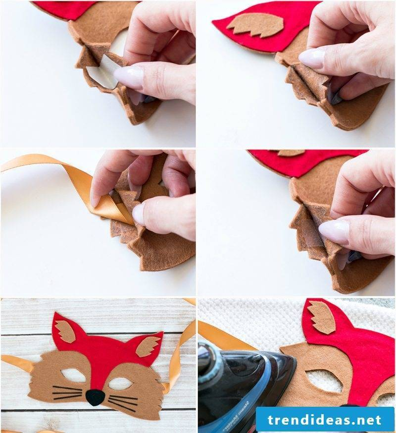 Instructions with Felting - DIY animal mask tinker
