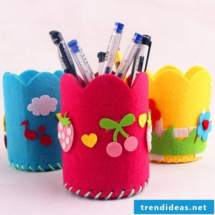 DIY Felt Pencil Box - DIY Instructions