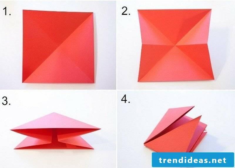 Crafting templates Origami folding