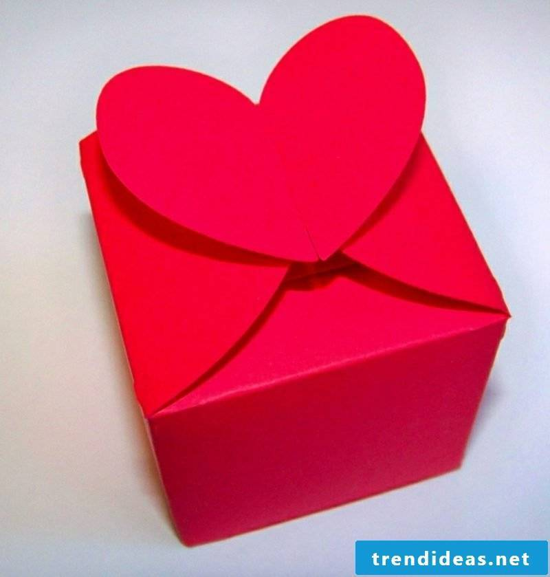 Paper box fold heart gorgeous look
