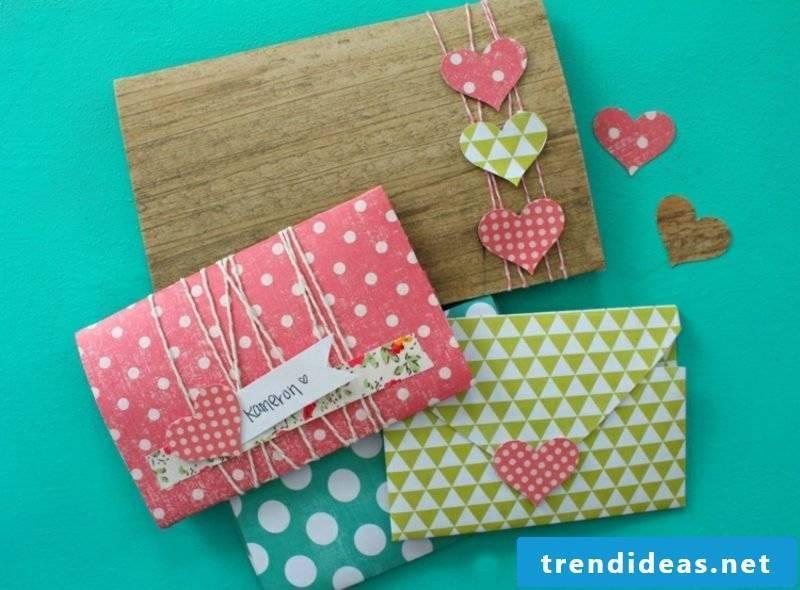 Crafting templates make envelope yourself