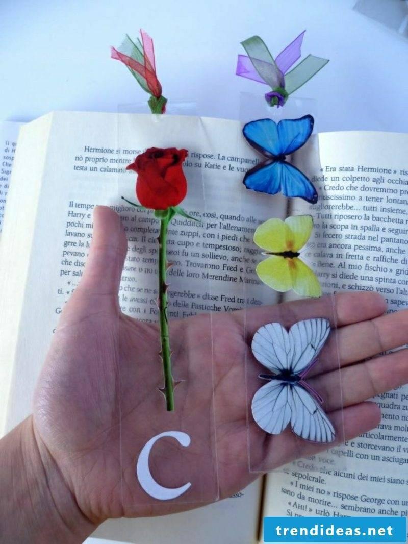 Make DIY ideas bookmarks yourself