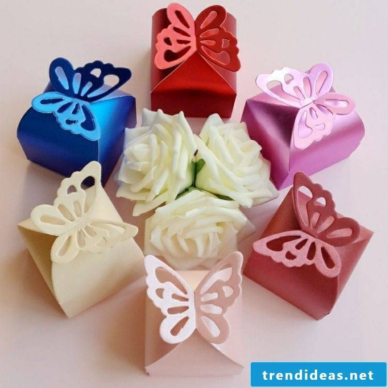 simple crafting paper box folding butterfly
