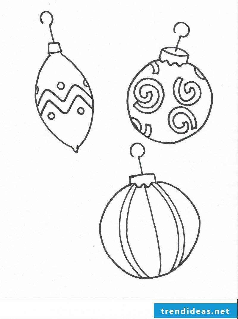 Coloring pages for Christmas jewelry for windows