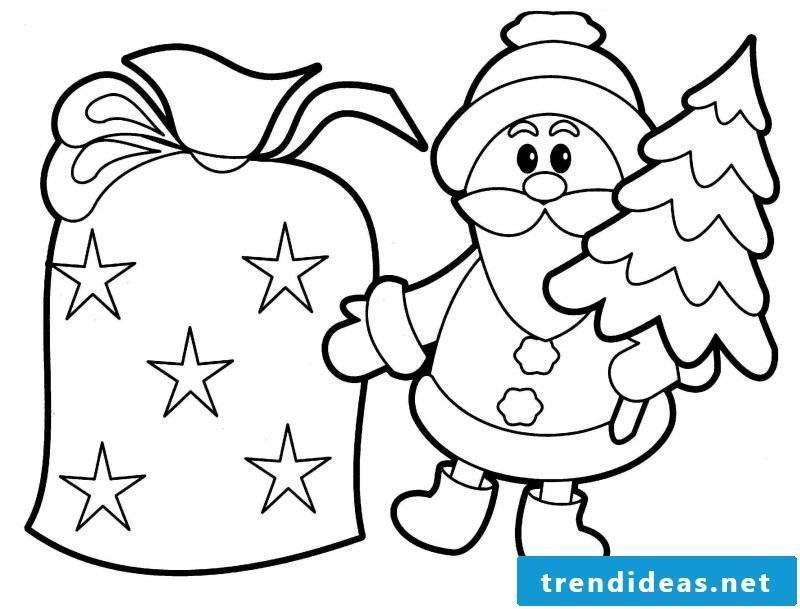 Coloring pages for Christmas Weihanchtsmann