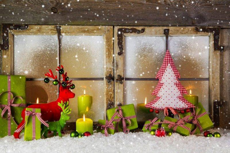 Coloring pages for Christmas as window pictures