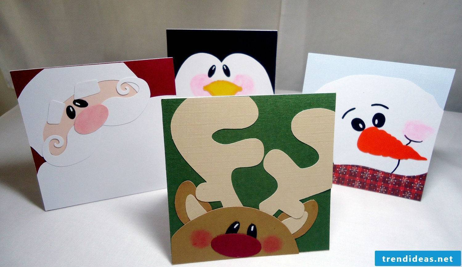 Many Christmas cards make motifs