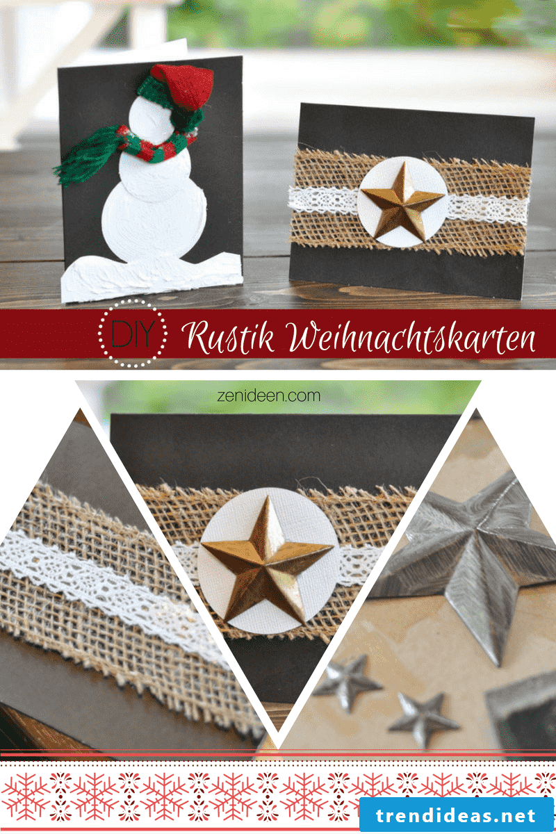 Make DIY Rustic Christmas Cards
