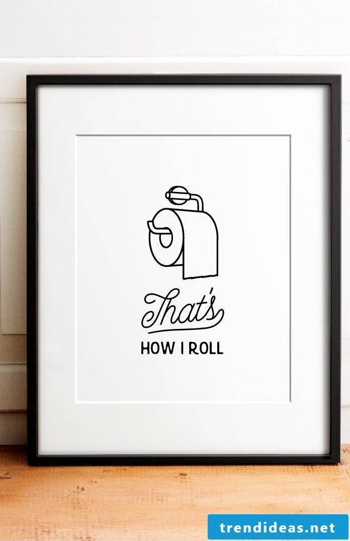 Interesting pictures for your bathroom - great fonts to download