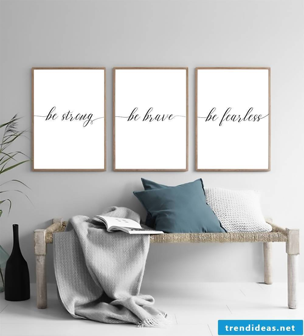 Feature Homemade Wall Art - Download some calligraphic fonts