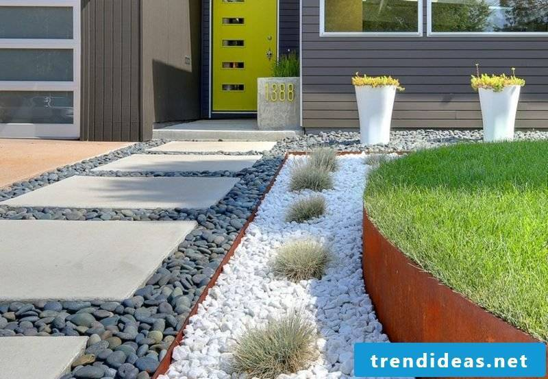 Front yard make great ideas with gravel