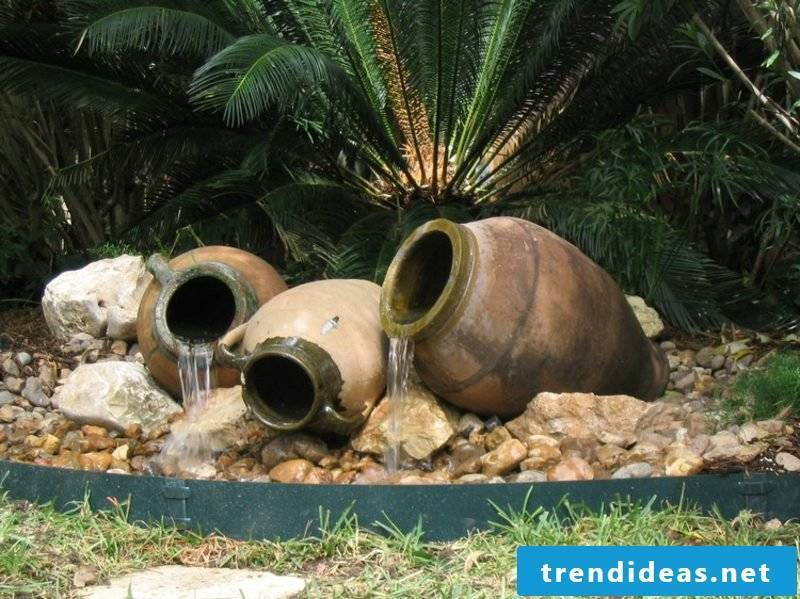Front yard shape water feature
