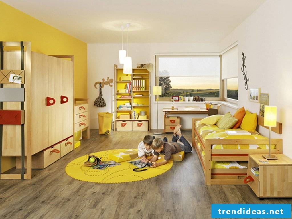 Nursery design for two children with Sandwitschbett