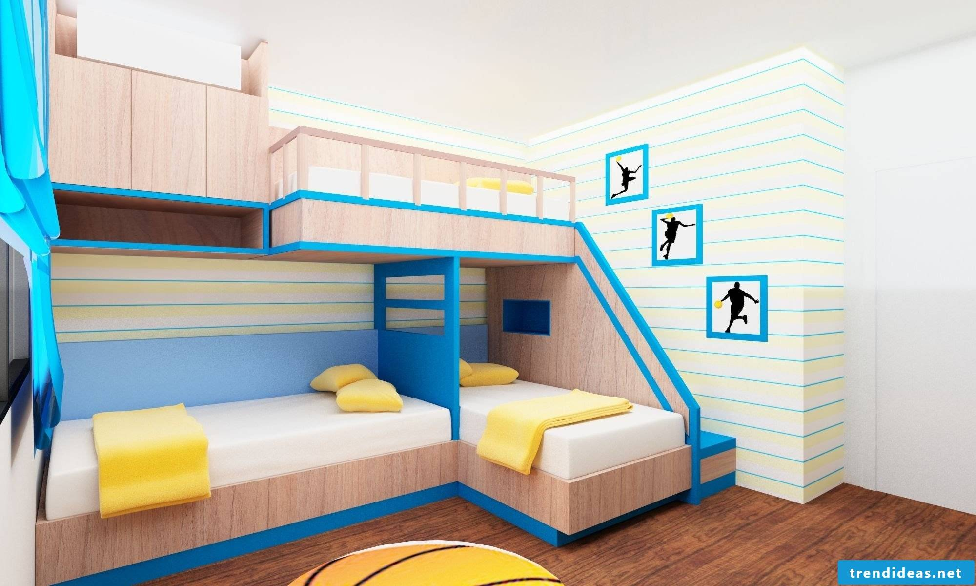 Nursery design - Two-tiered bed for three