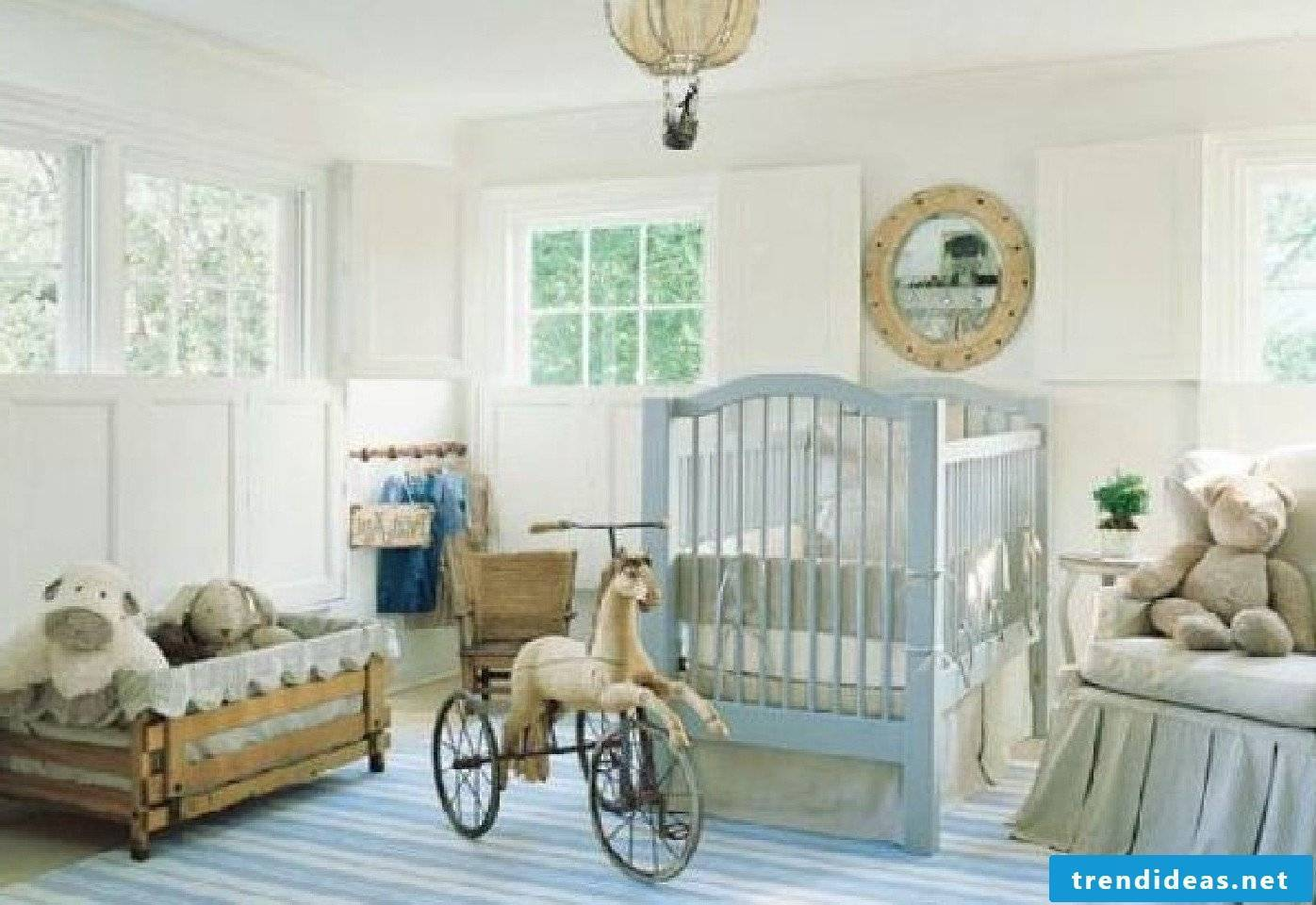 Baby room in rustic style