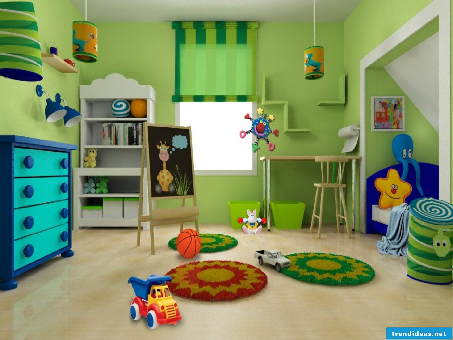 Nursery design- The green children's kingdom