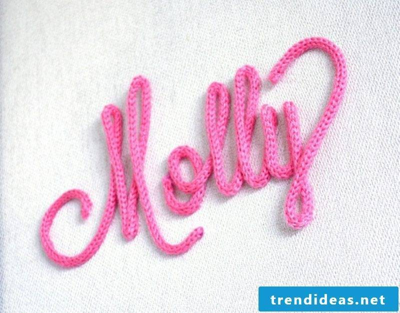 Make handicrafts with knitliesel lettering yourself