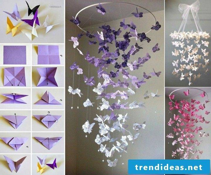 Butterflies from the ceiling