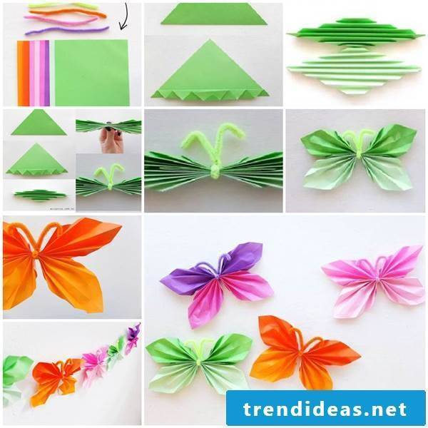 Butterflies to fold yourself