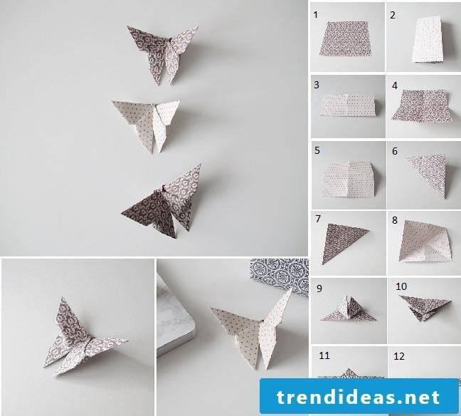 Fold paper butterflies