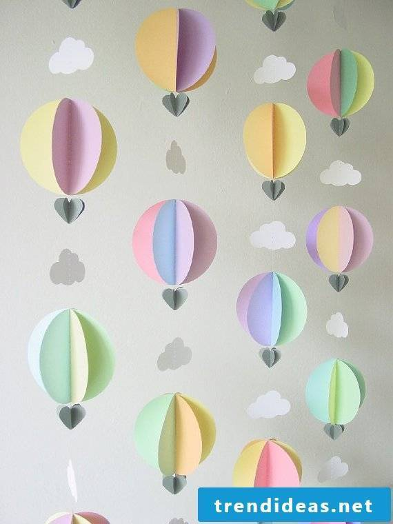 Balloons for the nursery
