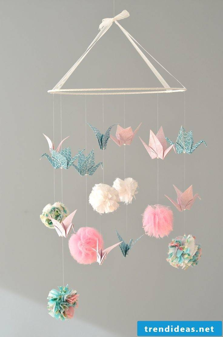 Origami mobile for girls