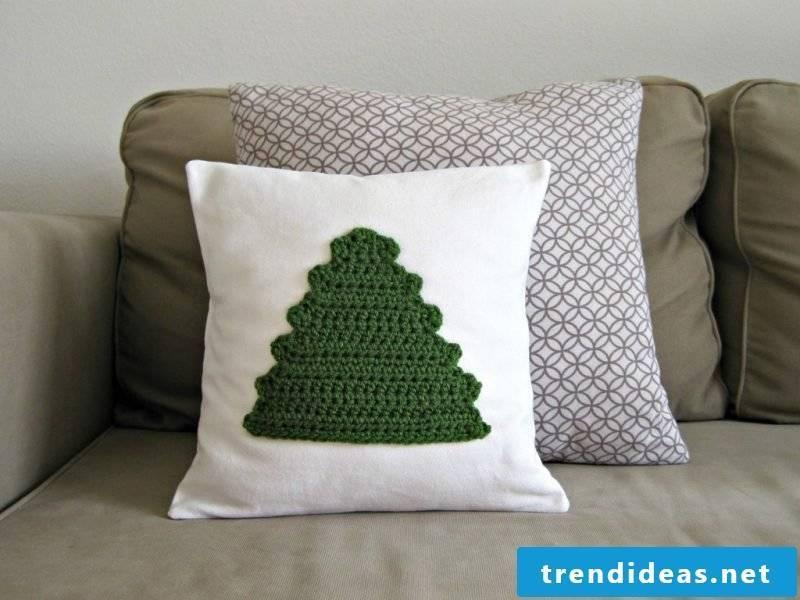 Crochet for christmas pillow