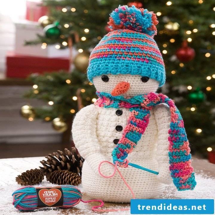 Crochet for Christmas snowman
