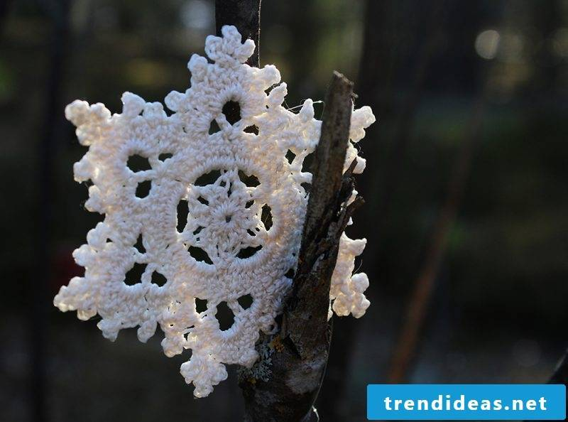 Crochet for Christmas snowflakes