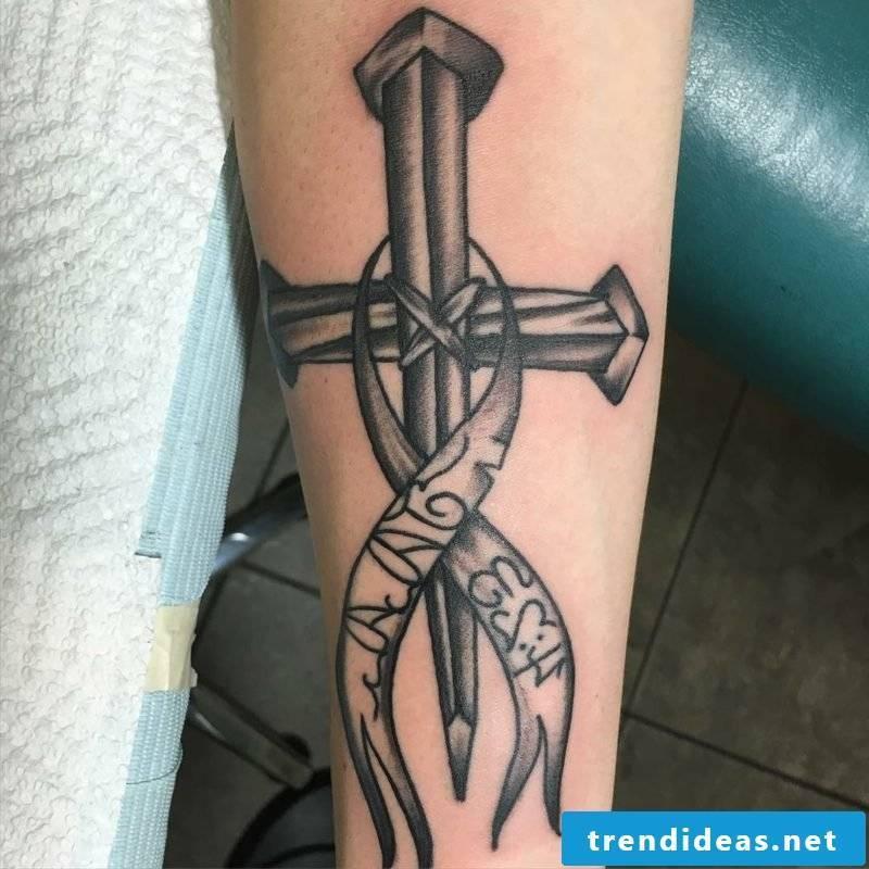 Cross Tattoo Arm original design