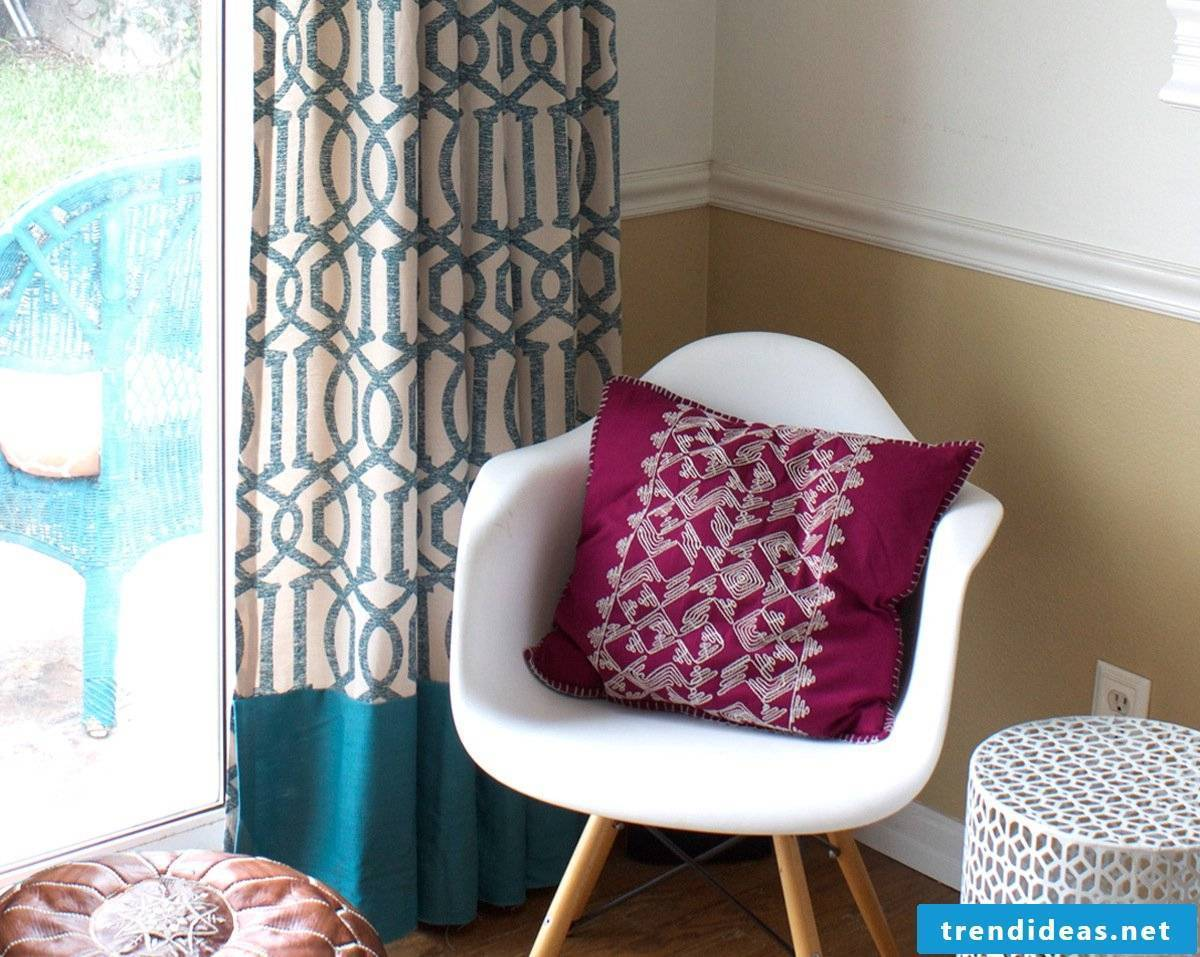 Curtains are made of different fabrics