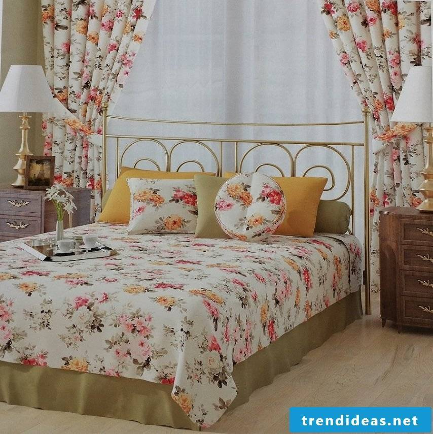Flowery curtains spice up the room