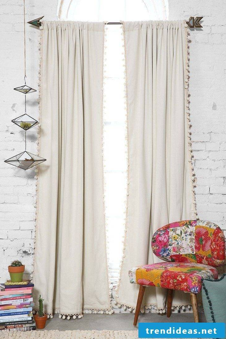 Natural curtains for the living room