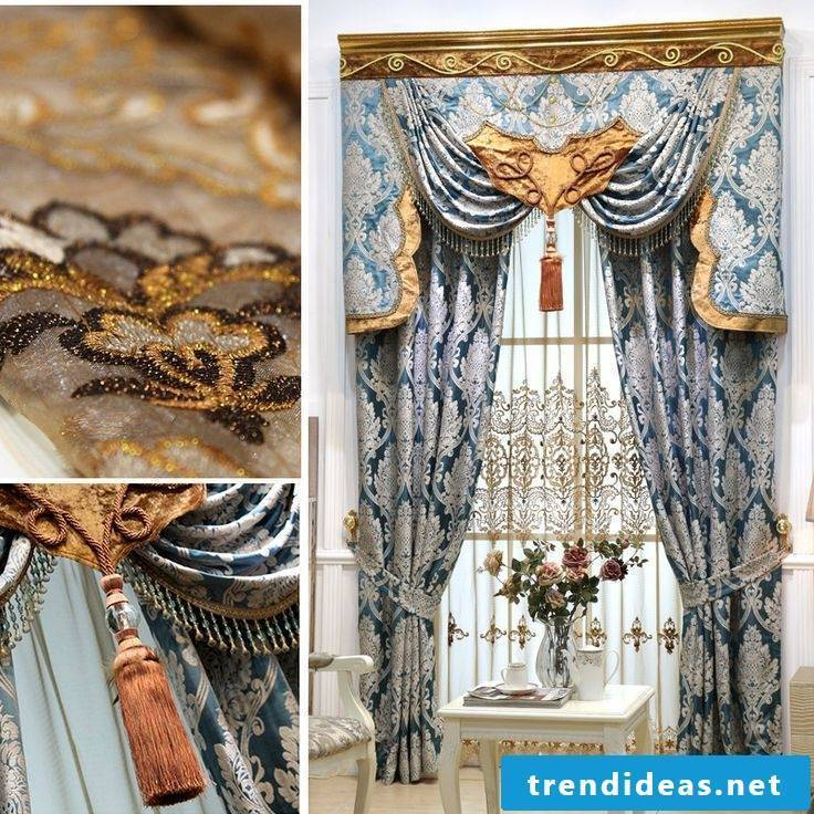 Theater curtains for a chic living area