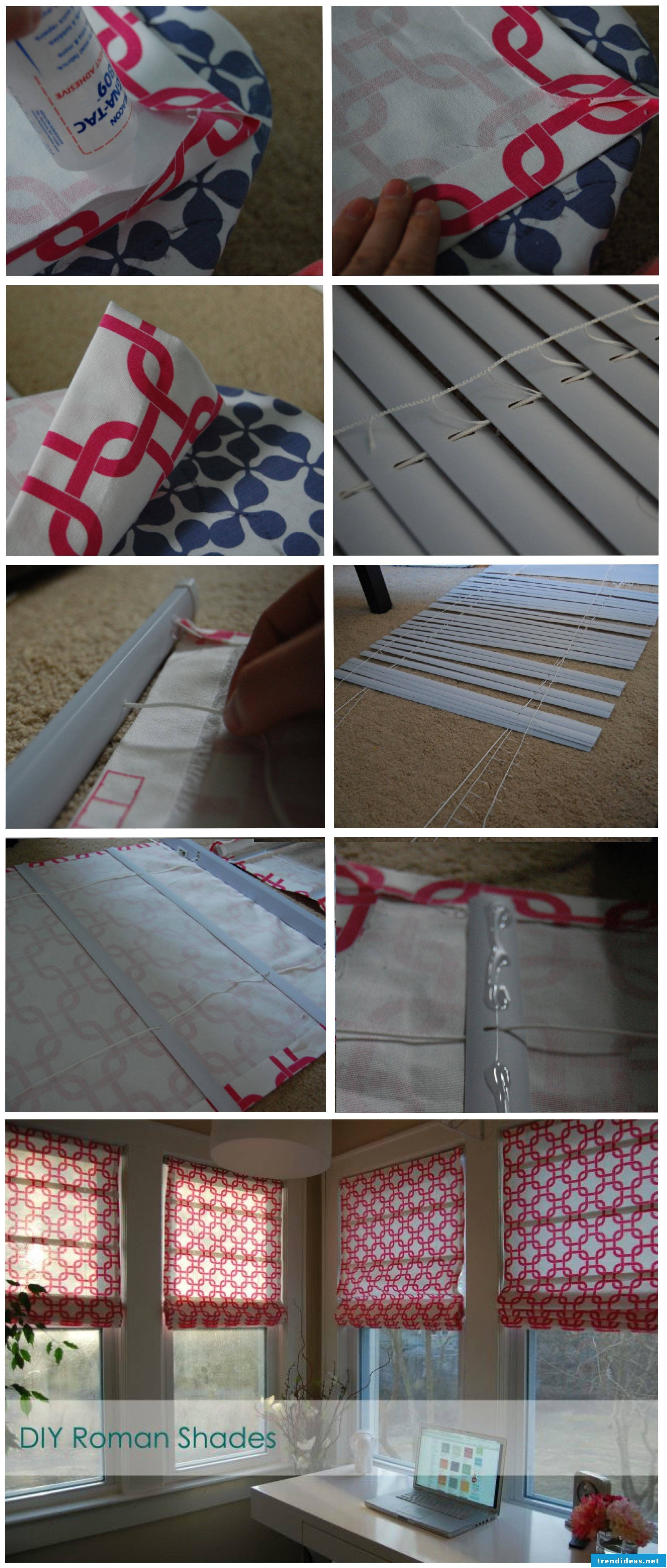 Instructions for roman curtains