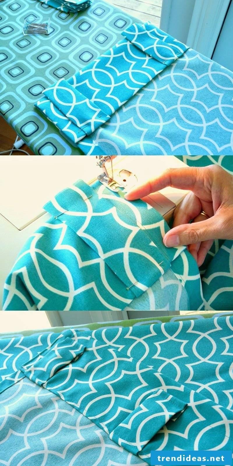 Sew curtains step 2