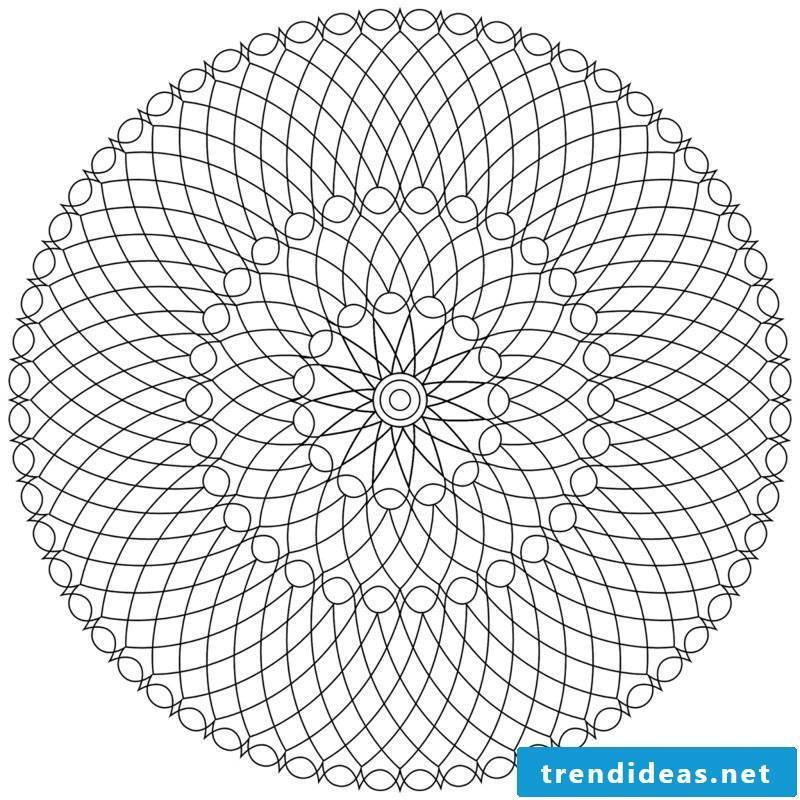 Mandala templates rest