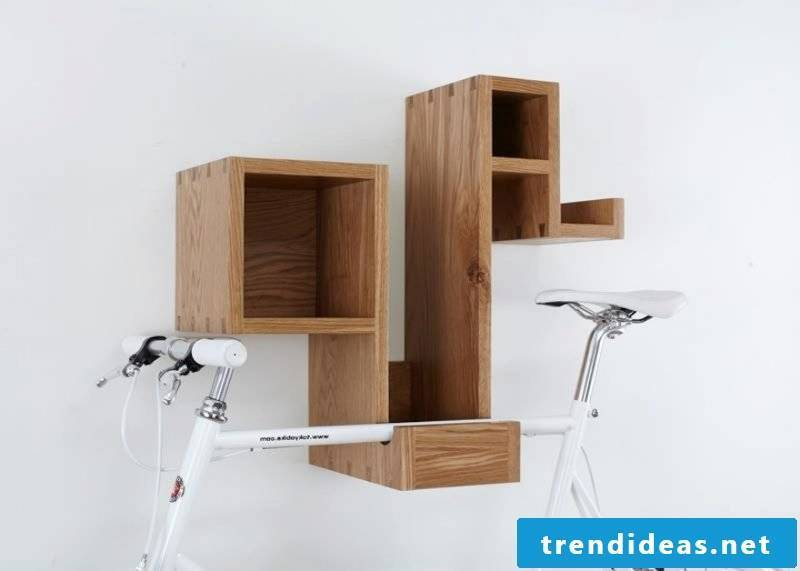 Bicycle mount for wall shelf