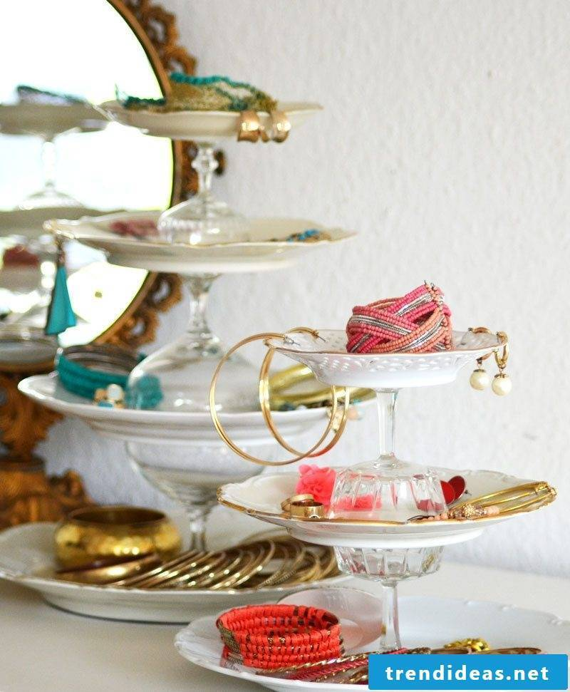 Etagere as a jewelry stand creative ideas