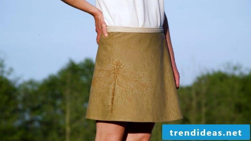 interesting wrap skirt made of denim