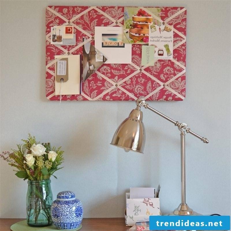Memo board itself make vintage design