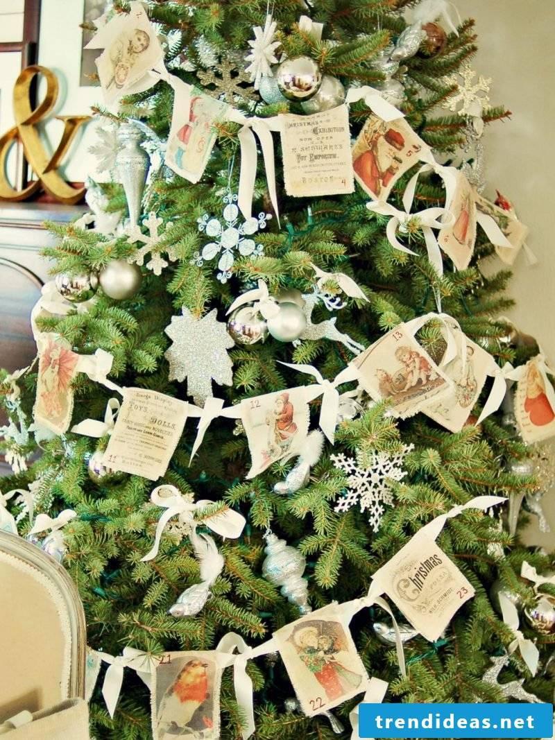 Christmas motives to print for Christmas tree