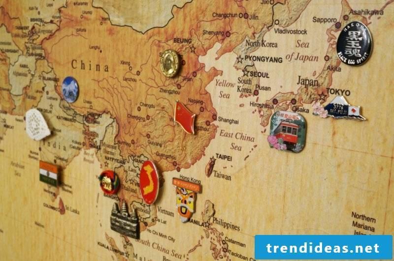 pin board make world map yourself