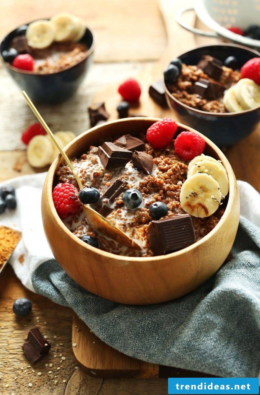 Quinoa breakfast chocolate