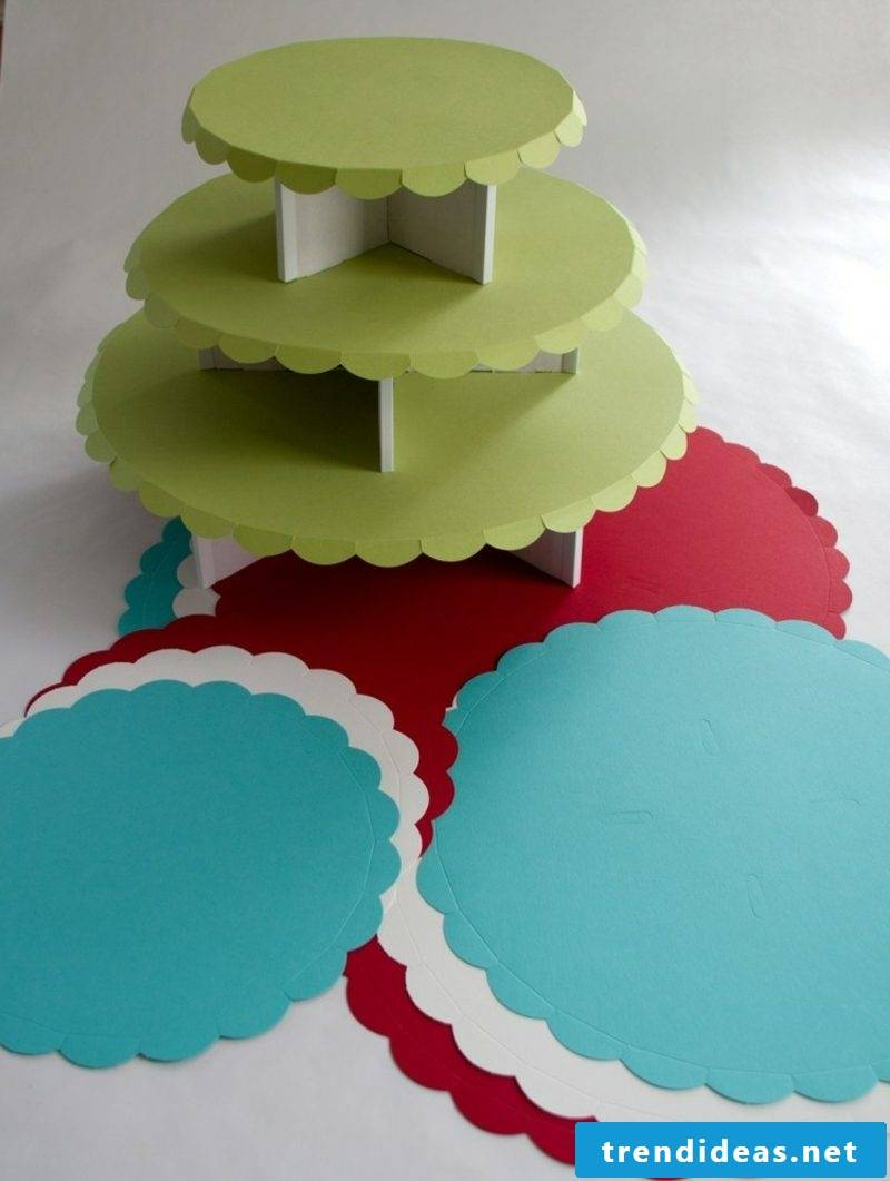 DIY original paper cake stand