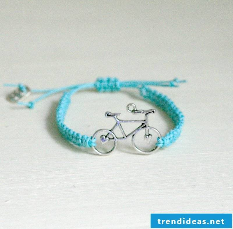 bracelets knot blue